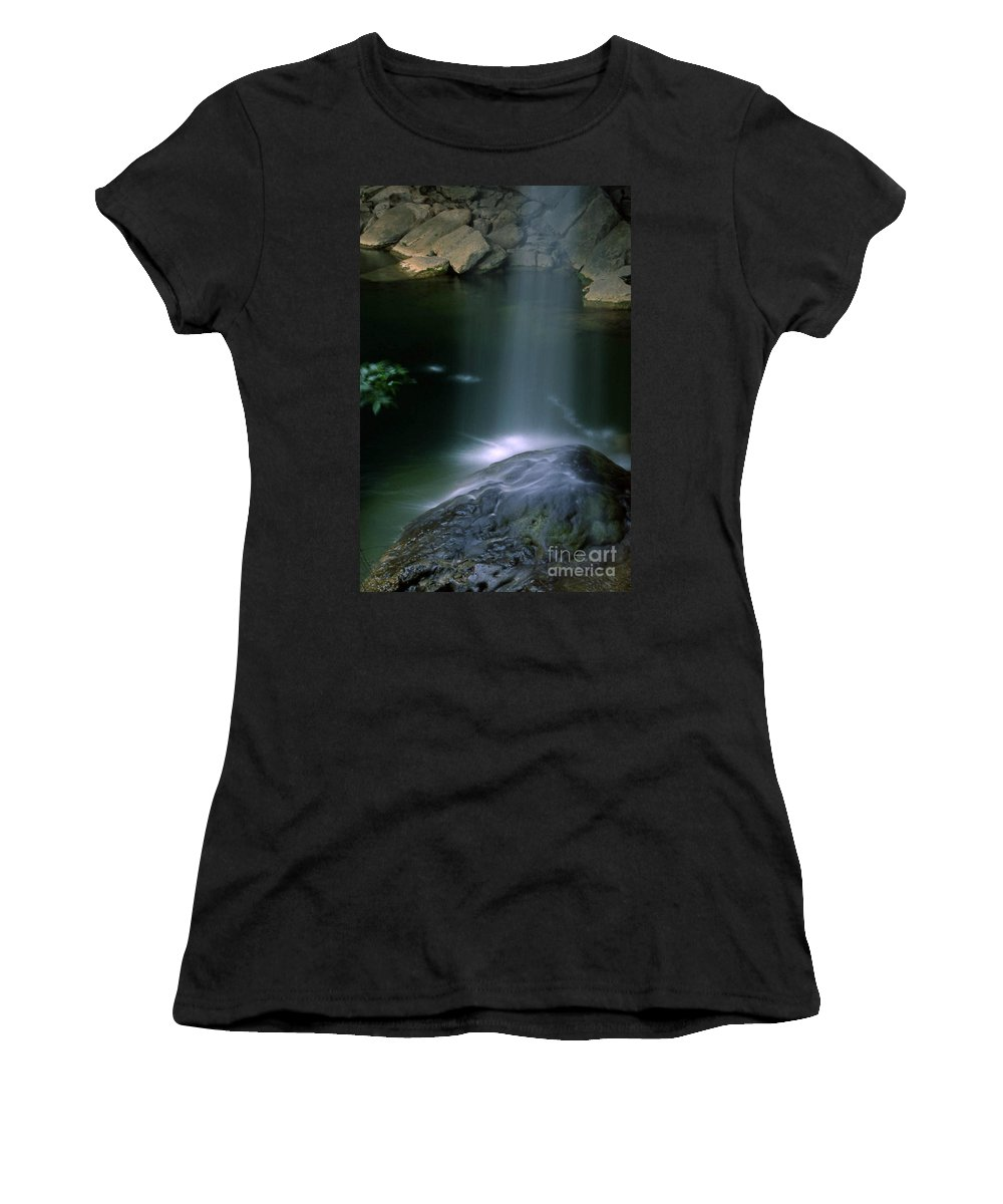 Nobi Nagase Photography Photograph Hamilton Pool Preserve Texas Hill Country Nature Waterfall Travis County Austin Women's T-Shirt featuring the photograph Hamilton Pool Nature Preserve by Nobi Nagase