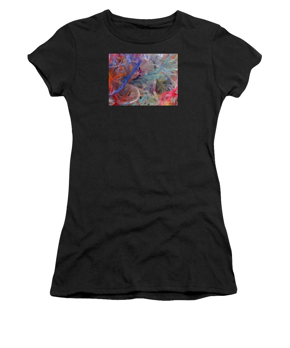 Diane Dimarco Art Women's T-Shirt (Athletic Fit) featuring the photograph Jungle Bird by Diane DiMarco