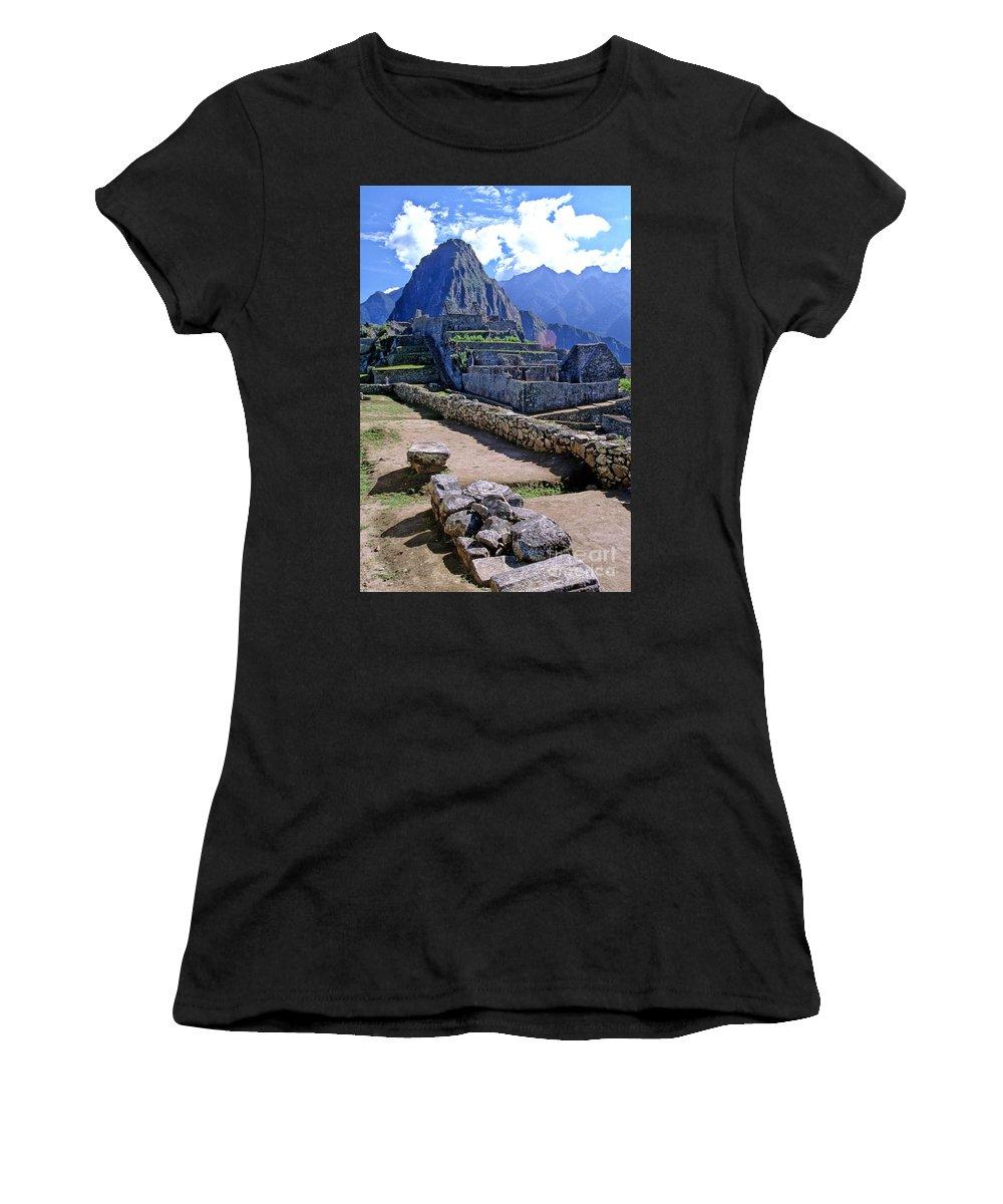 Machu Picchu Women's T-Shirt featuring the photograph Machu Picchu Peru by Ryan Fox