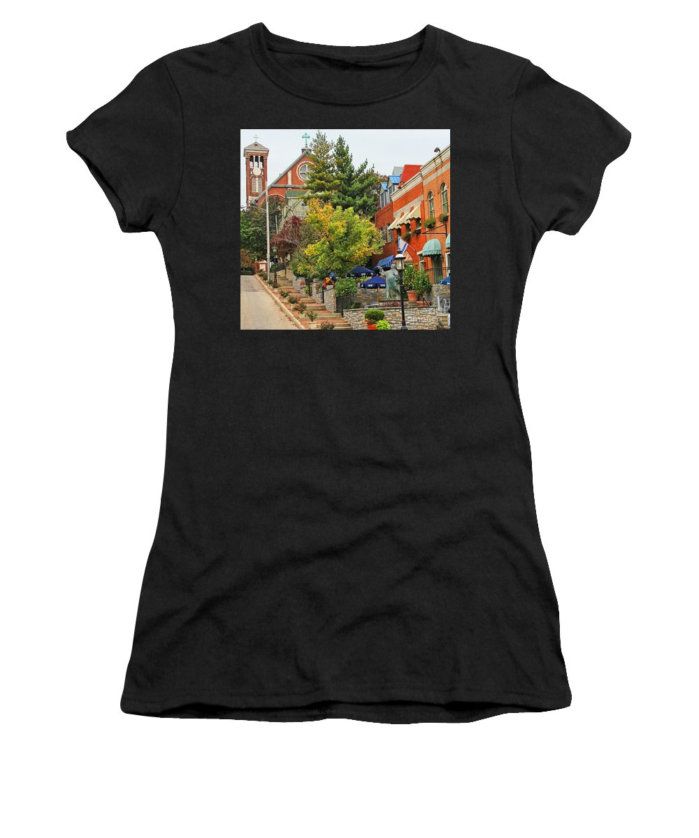 Mt Adams Women's T-Shirt (Athletic Fit) featuring the photograph Mt Adams 9980 by Jack Schultz