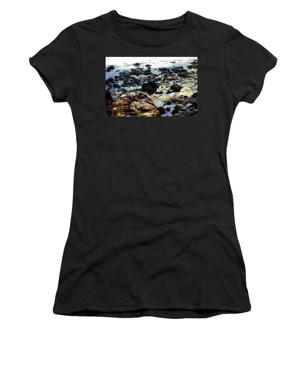 Ocean View Digital Image Women's T-Shirt (Athletic Fit) featuring the digital art Ocean View by Yael VanGruber