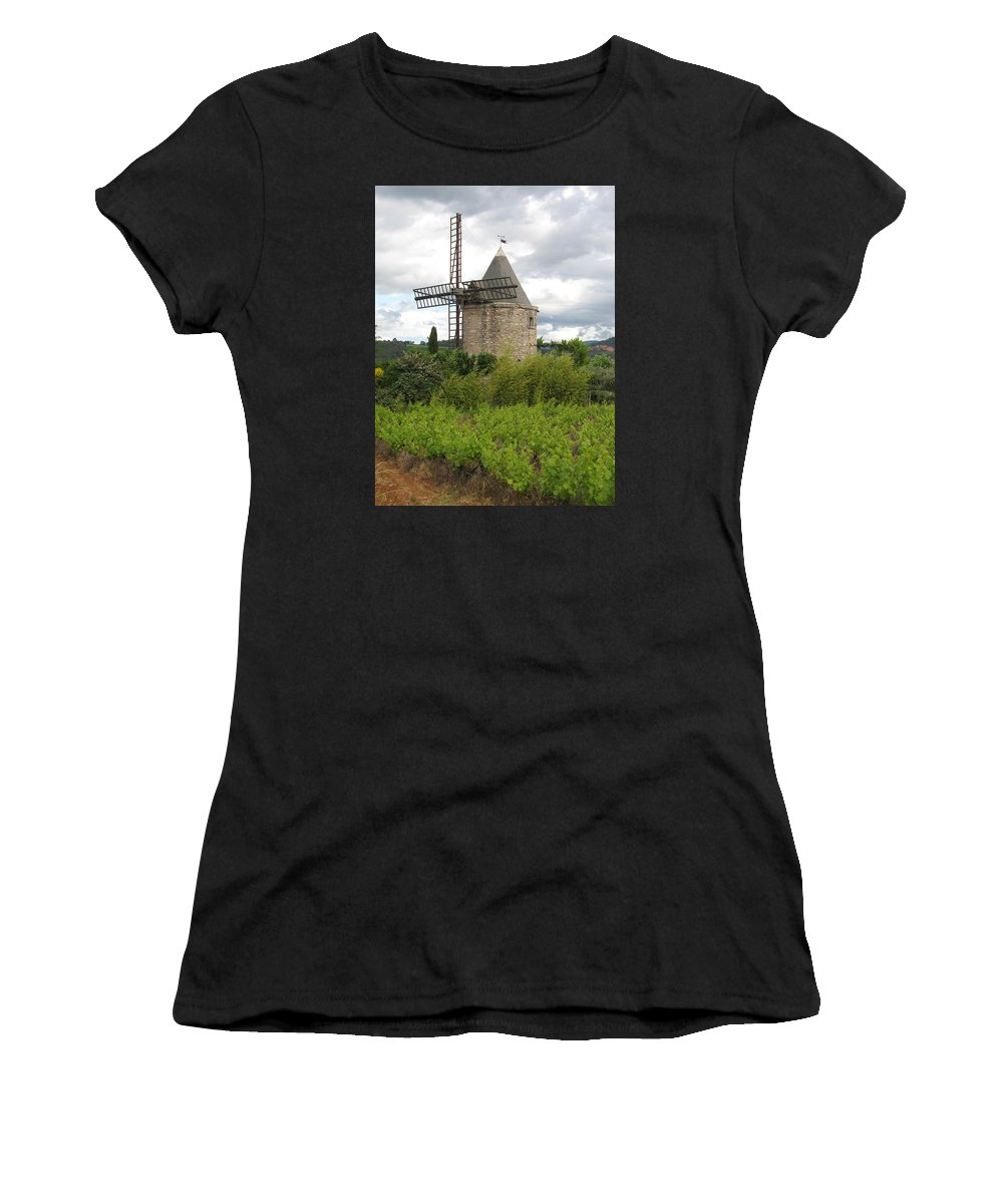 Mill Women's T-Shirt (Athletic Fit) featuring the photograph Old Windmill by Christiane Schulze Art And Photography