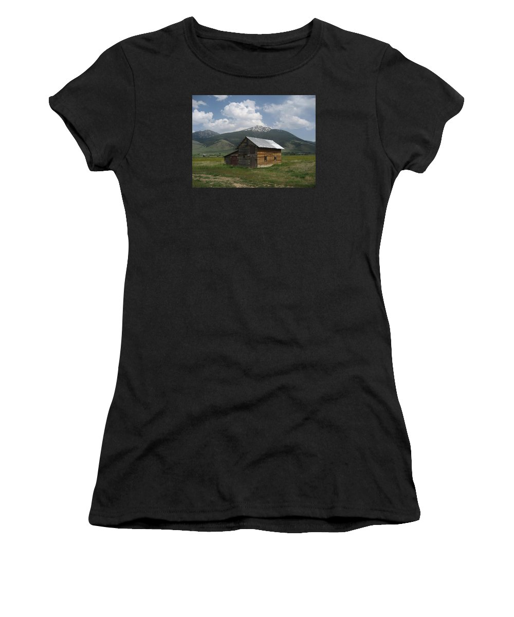 Montana Women's T-Shirt (Athletic Fit) featuring the photograph Paradise Valley Montana by Jeffery Akerson