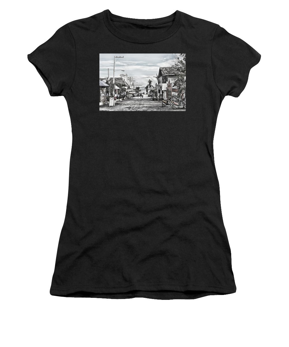 City Women's T-Shirt (Athletic Fit) featuring the photograph Playa Del Carmen Mexico by Teresa Zieba