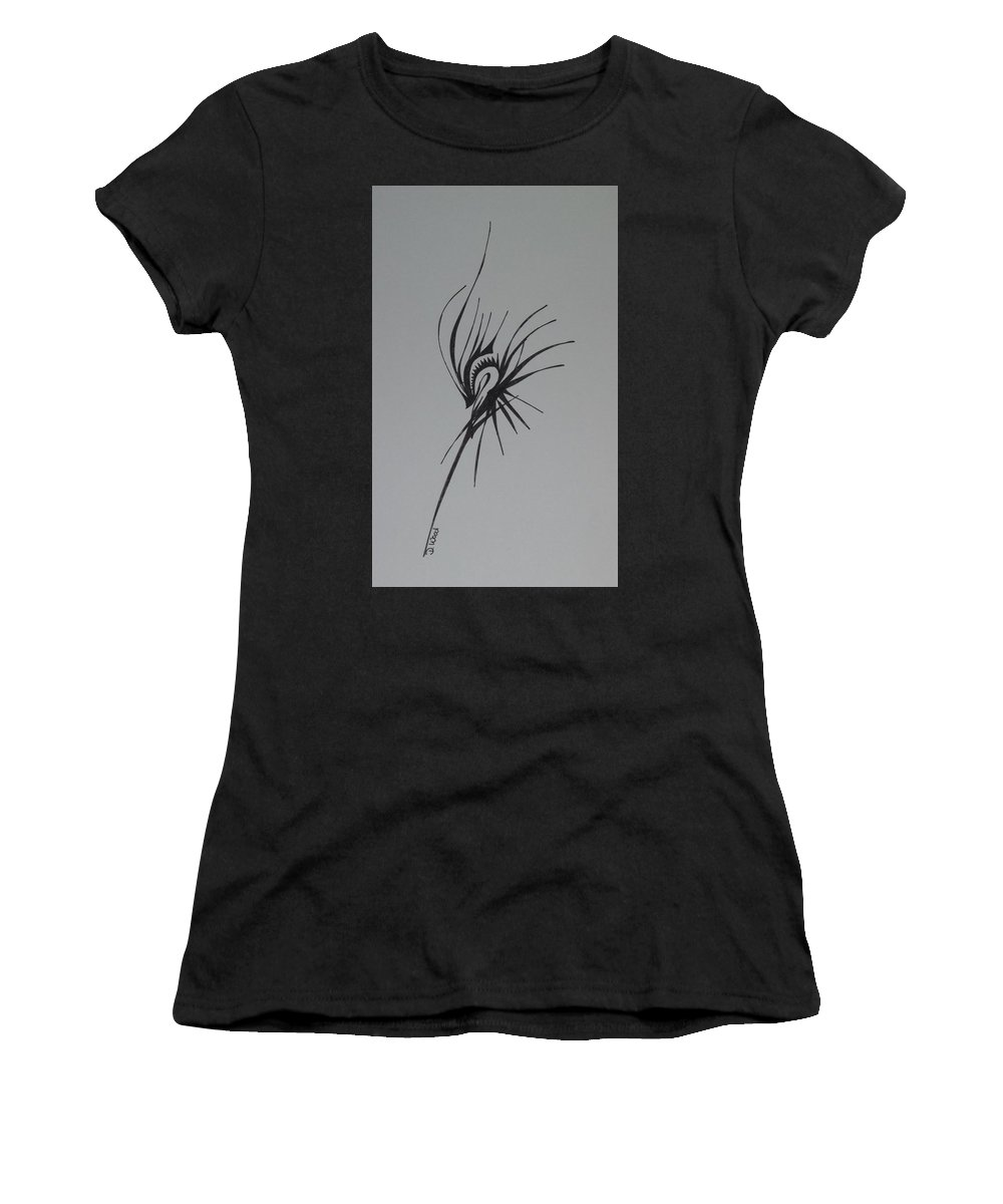 Abstract Women's T-Shirt featuring the drawing Prominence by D Wood