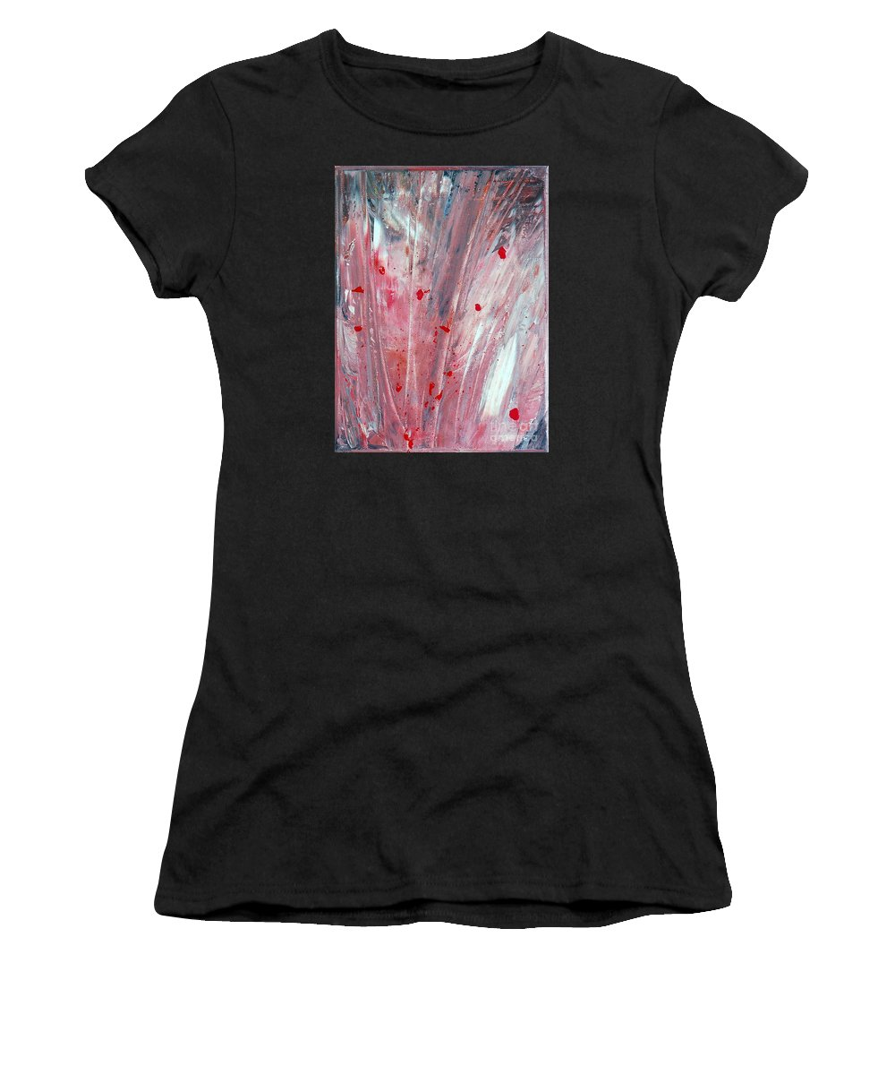 Abstract Women's T-Shirt featuring the painting RED by Teresa Wegrzyn