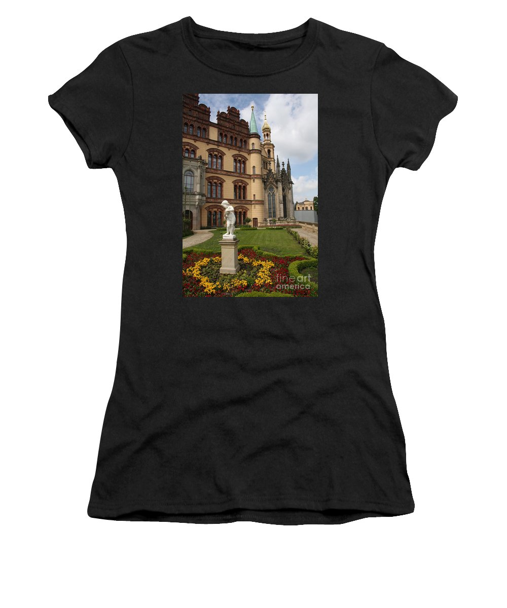 Schwerin Women's T-Shirt featuring the photograph Schwerin - Palace - Germany by Christiane Schulze Art And Photography