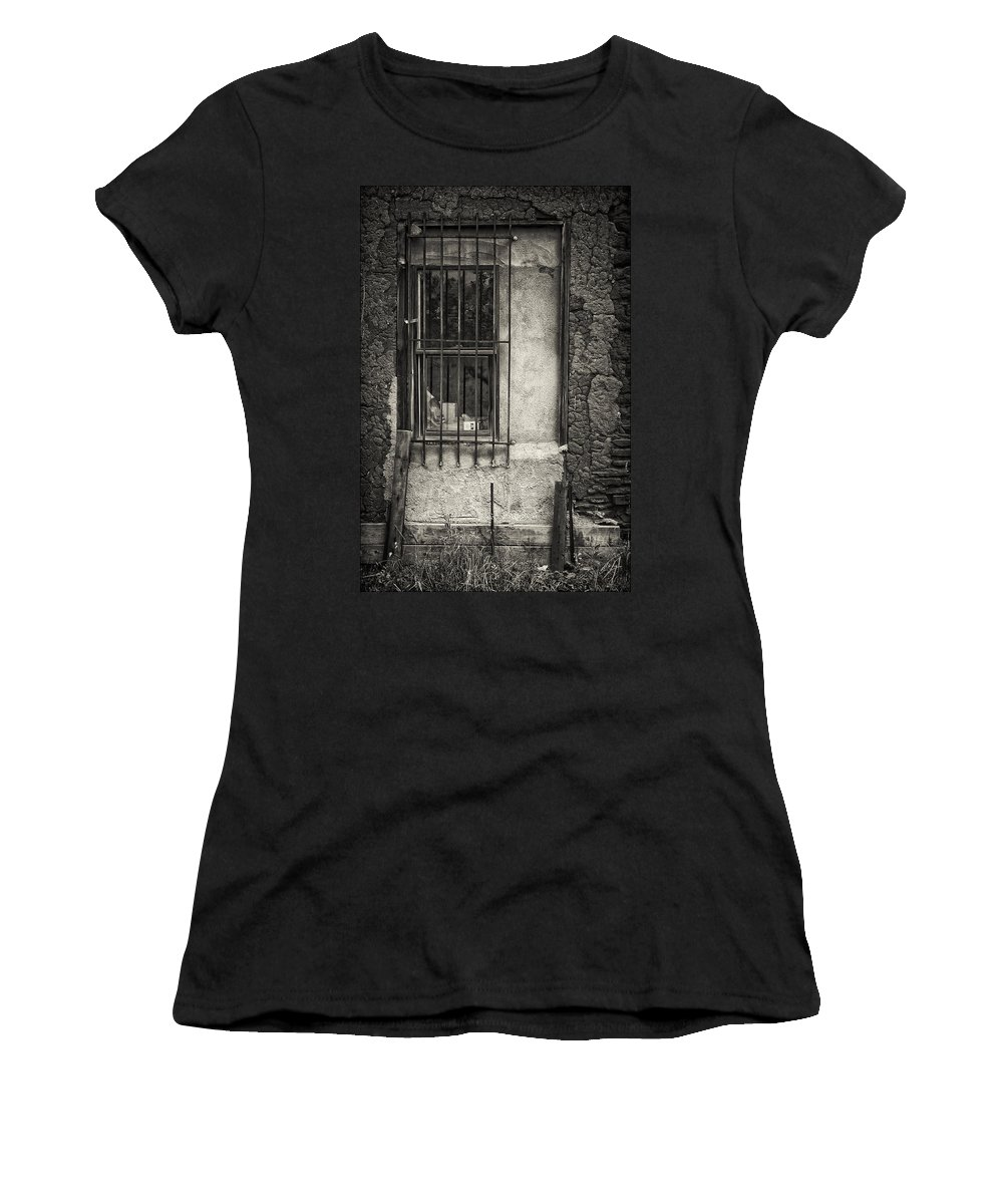Window Women's T-Shirt (Athletic Fit) featuring the photograph Secured by Priscilla Burgers