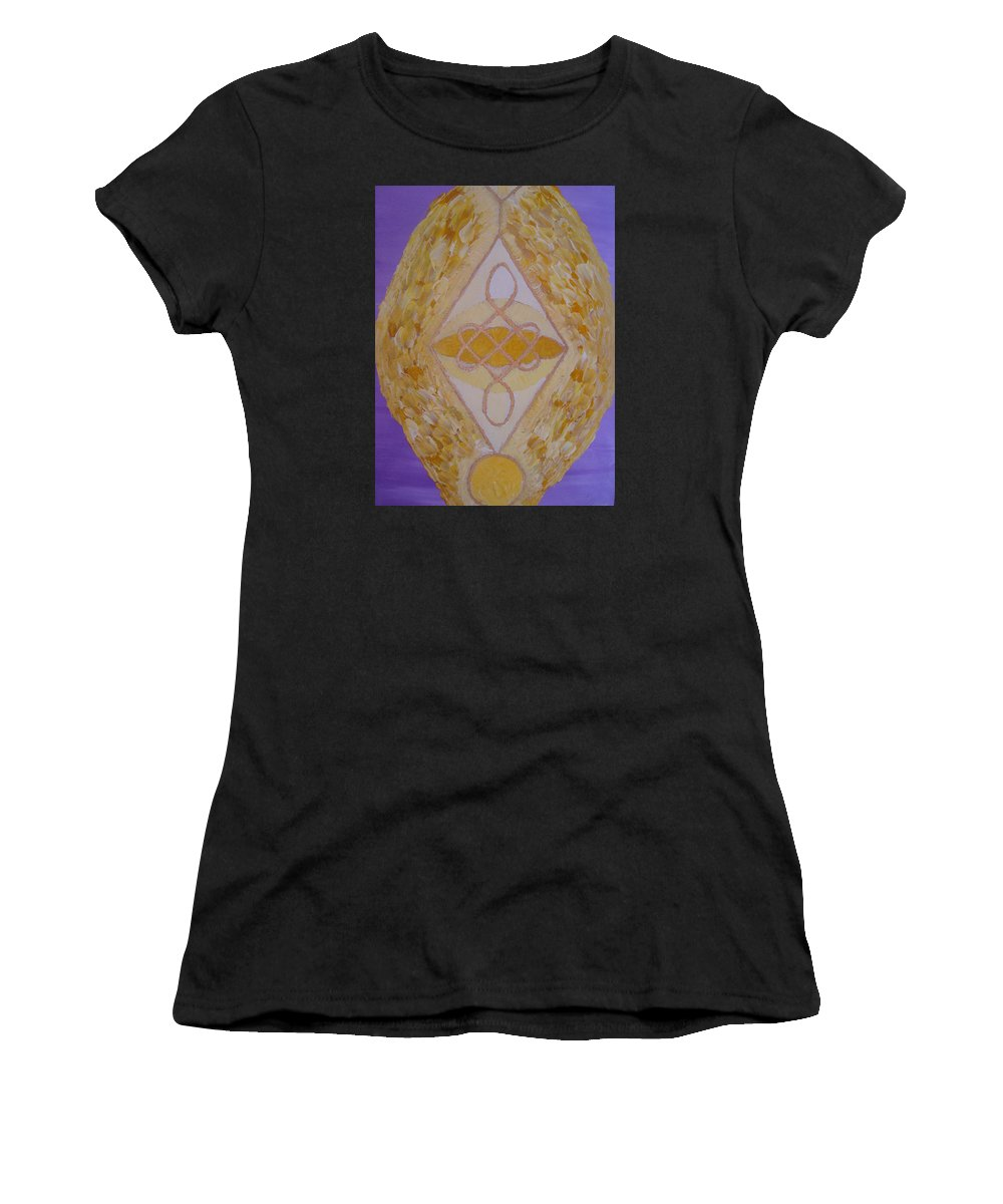 Symbols Women's T-Shirt (Athletic Fit) featuring the painting Shriwatsa by Joanna Pilatowicz