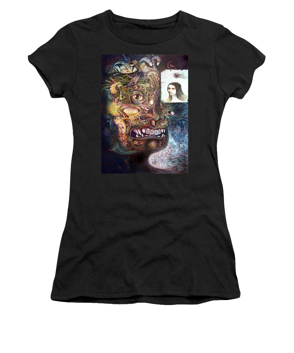 Mythology Women's T-Shirt (Athletic Fit) featuring the painting The Beast Of Babylon by Otto Rapp