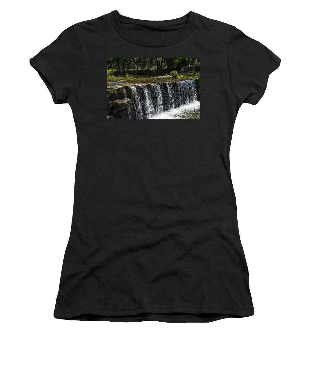 Waterfall Women's T-Shirt featuring the photograph Waterfall by Paulo Goncalves