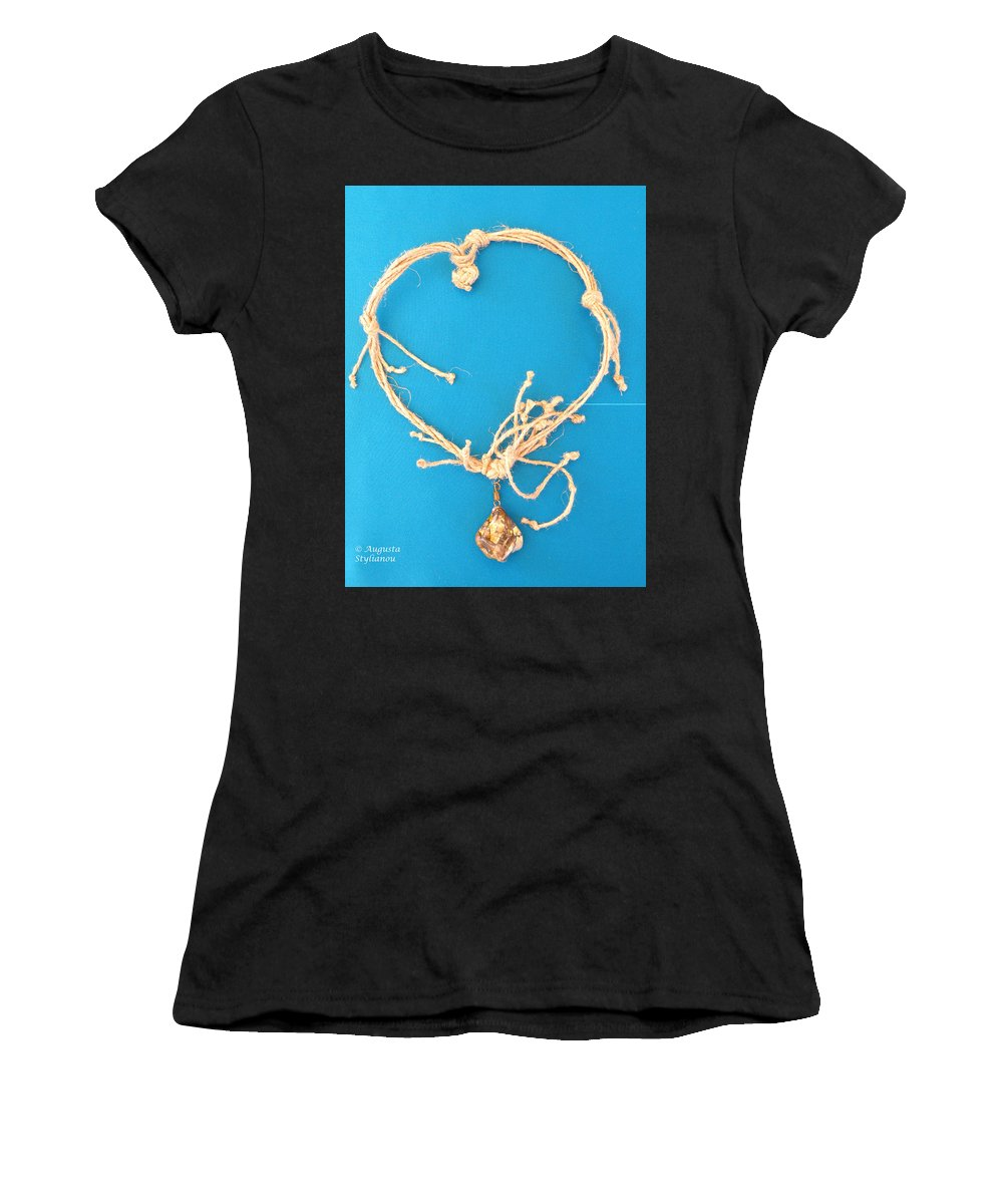 Women's T-Shirt featuring the jewelry Aphrodite Urania Necklace by Augusta Stylianou
