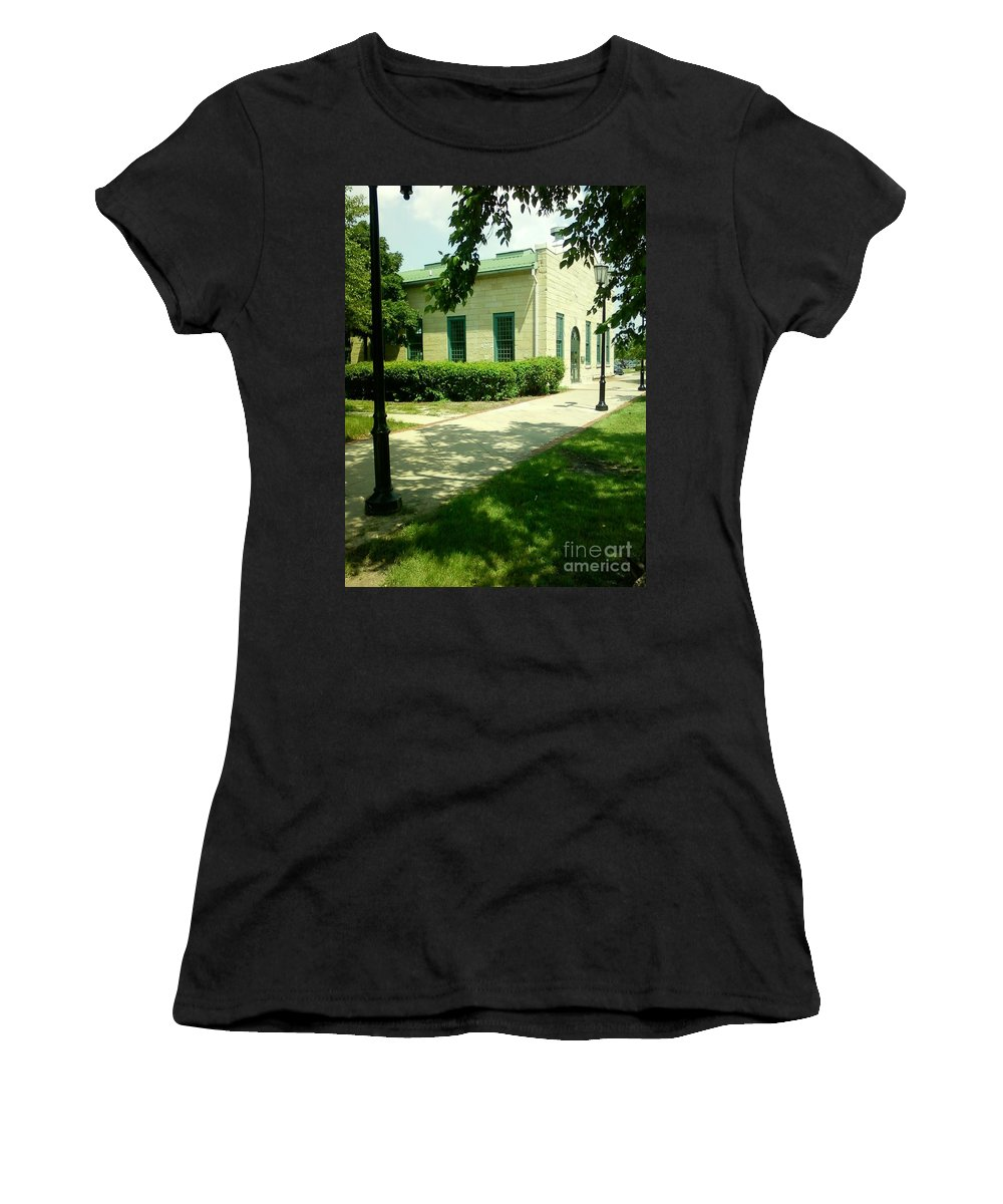 Aurora Transportation Center Women's T-Shirt featuring the photograph Aurora Transportation Center by Alfie Martin