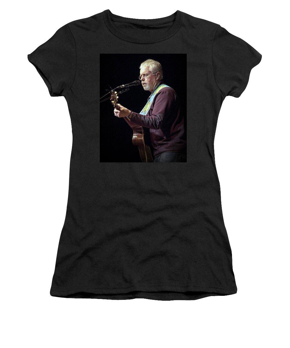Art Women's T-Shirt featuring the photograph Canadian Folk Rocker Bruce Cockburn by Randall Nyhof