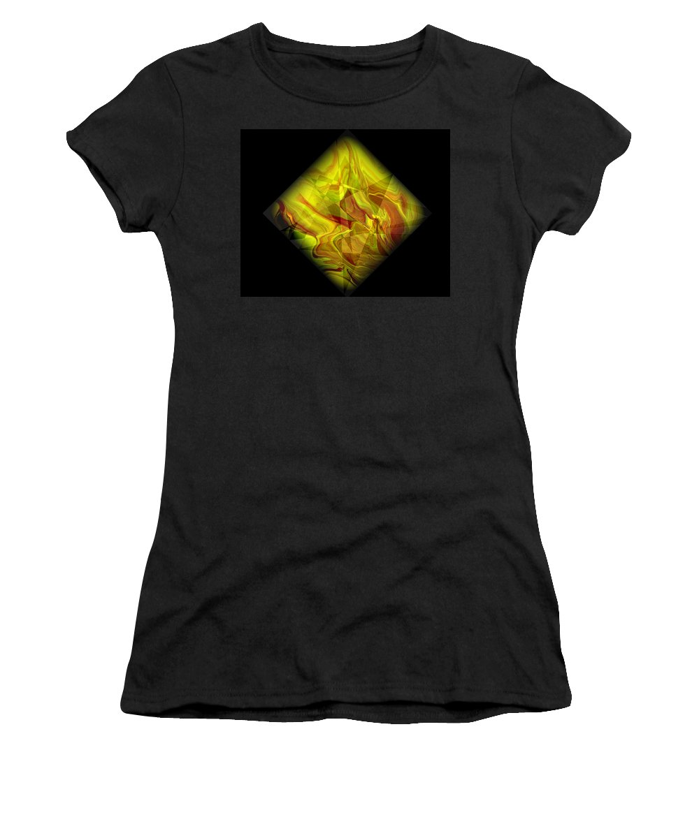 Symmetrical Women's T-Shirt (Athletic Fit) featuring the painting Diamond 105 by J D Owen