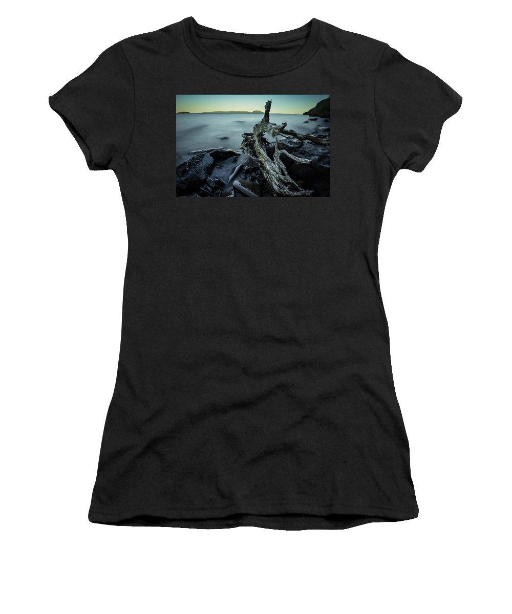 Blue Hour Women's T-Shirt featuring the photograph Driftwood by Jakub Sisak