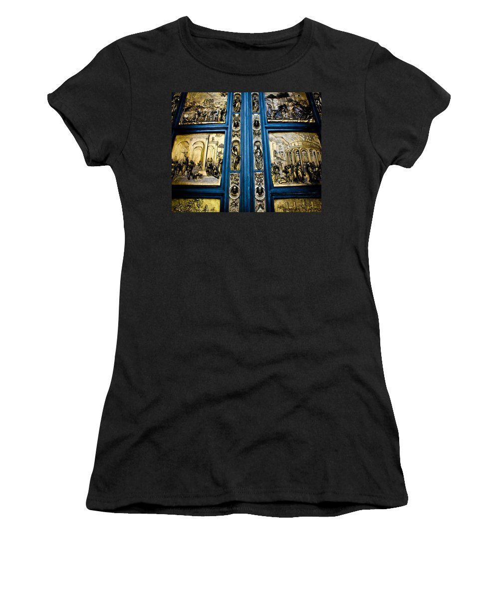 Doors Women's T-Shirt (Athletic Fit) featuring the photograph For I Have Sinned by Digital Kulprits