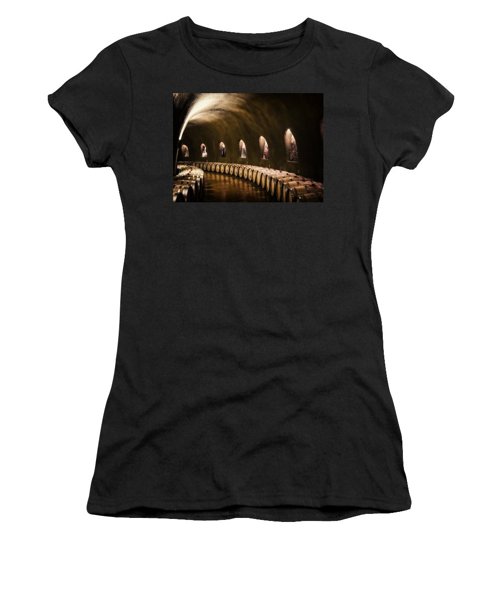 Napa Valley Women's T-Shirt featuring the photograph Fruits Of The Vine by Mountain Dreams