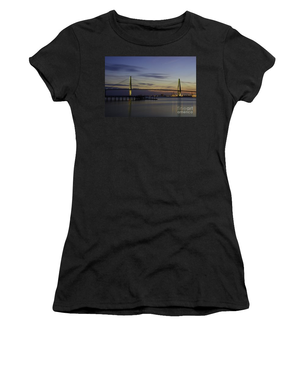 Sunset Women's T-Shirt (Athletic Fit) featuring the photograph Last Bit Of Light by Dale Powell