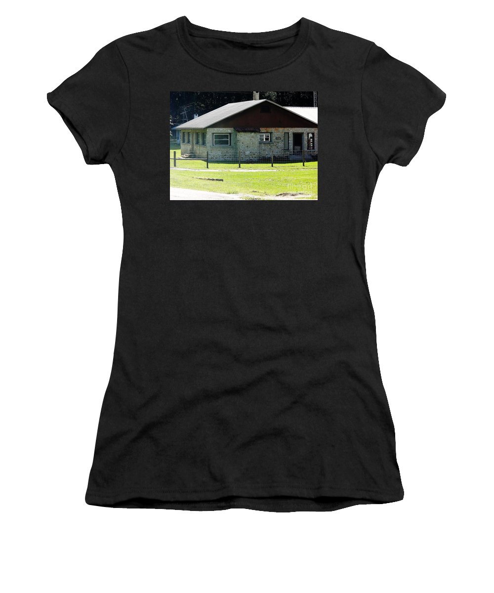 Chert Women's T-Shirt (Athletic Fit) featuring the photograph Limestone House by D Hackett