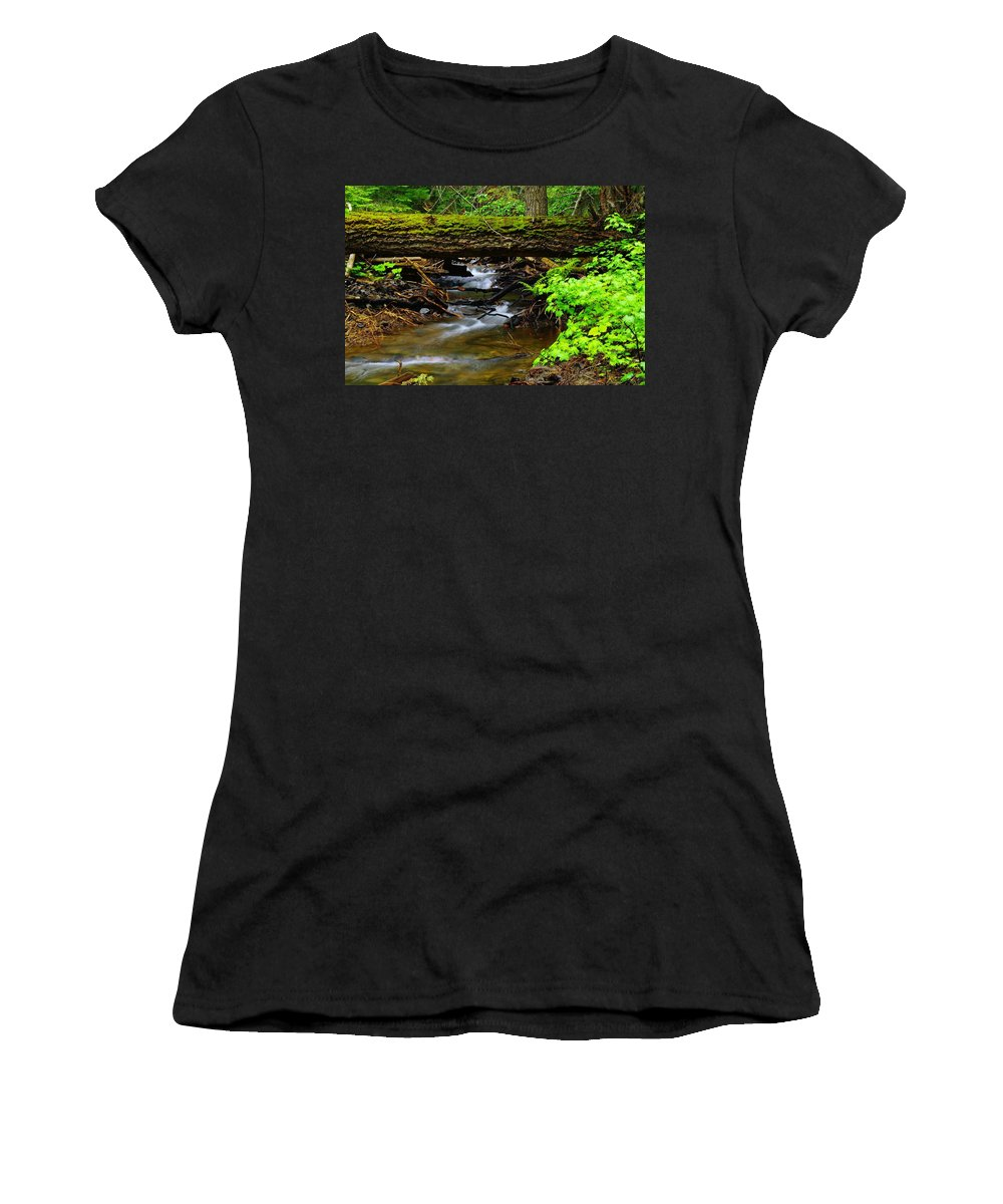 Rivers Women's T-Shirt featuring the photograph Natural Bridge by Jeff Swan