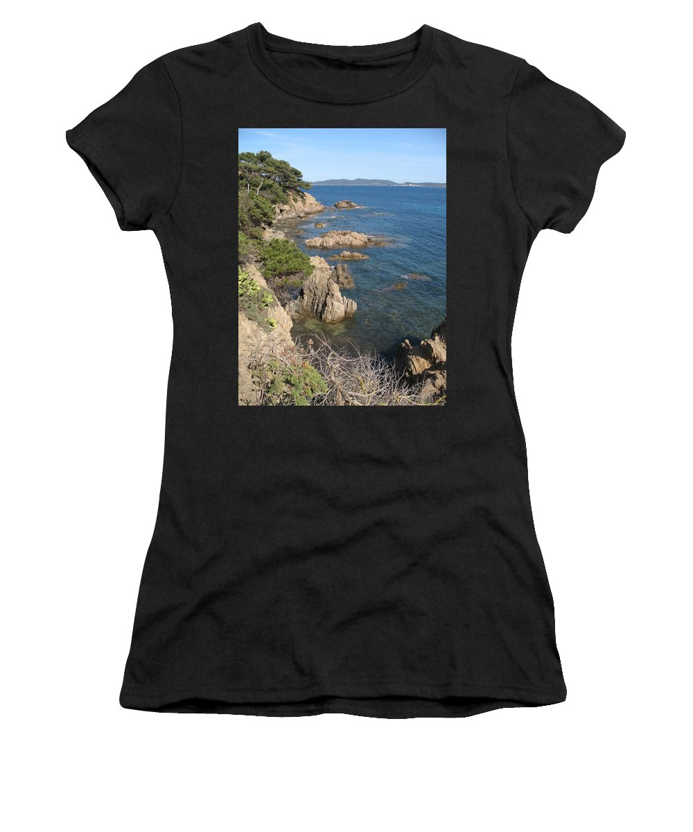 Peninsula Women's T-Shirt (Athletic Fit) featuring the photograph Peninsula Gien by Christiane Schulze Art And Photography
