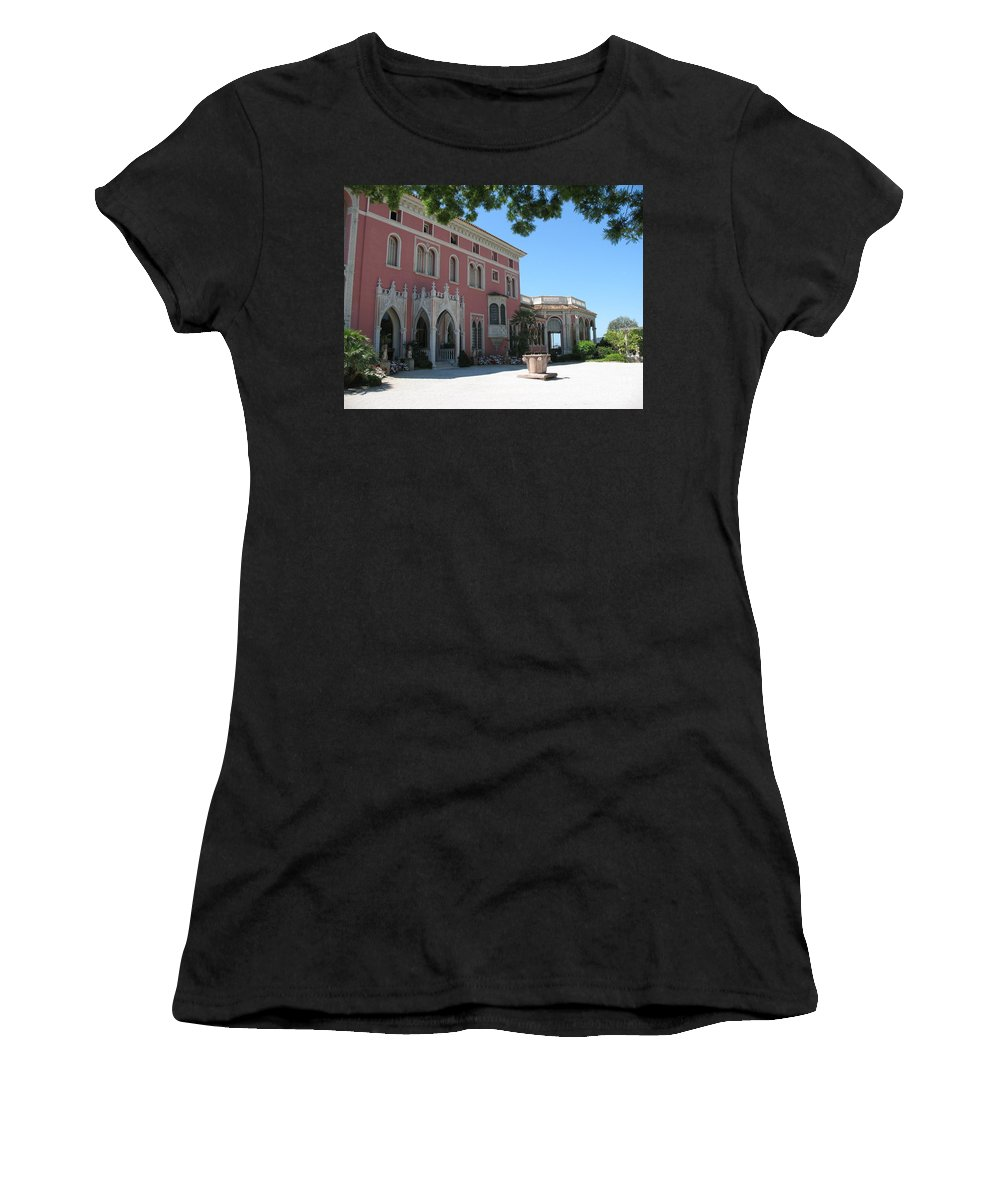 Villa Women's T-Shirt (Athletic Fit) featuring the photograph Villa Ephrussi De Rothschild by Christiane Schulze Art And Photography