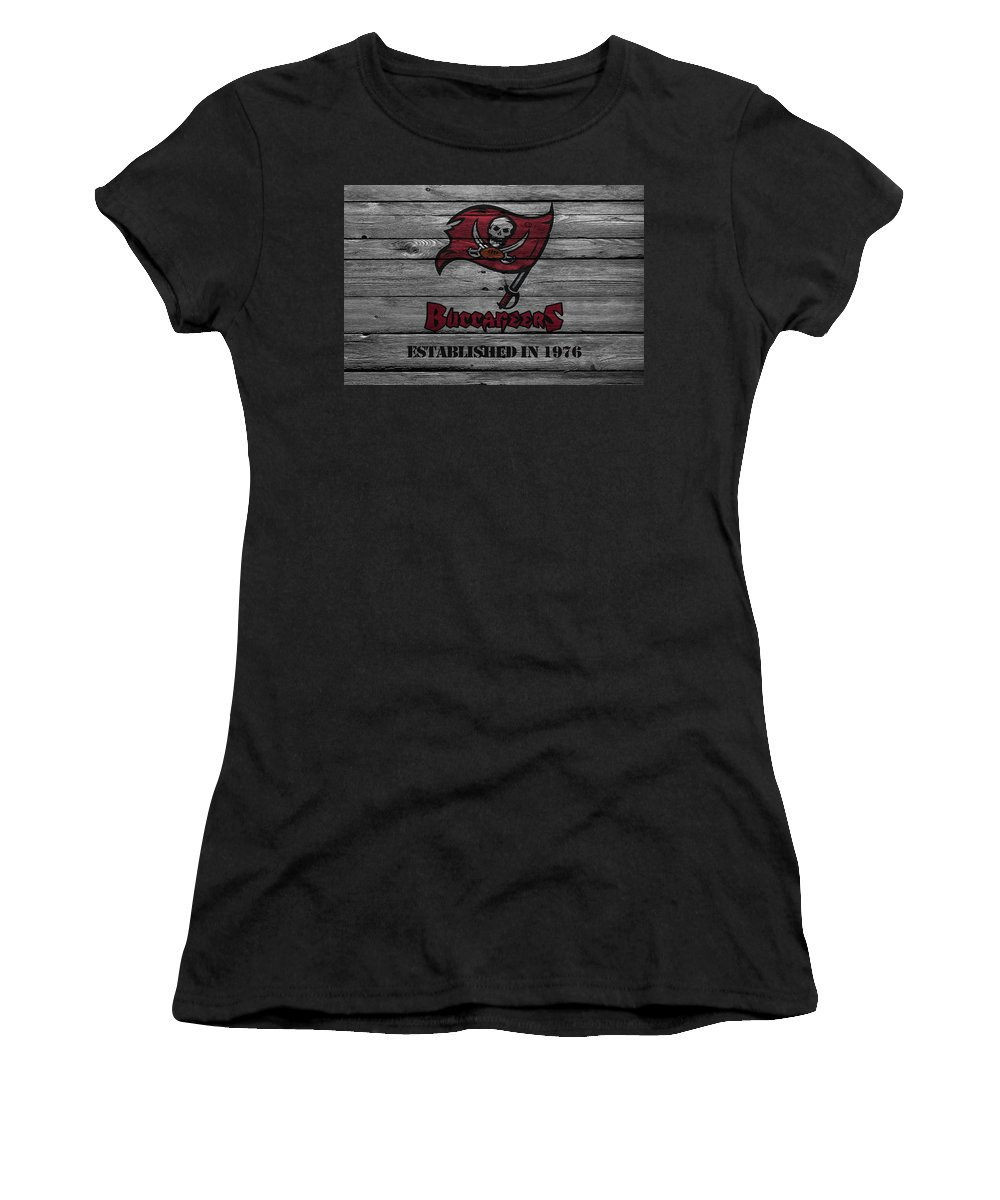 Buccaneers Women's T-Shirt (Athletic Fit) featuring the photograph Tampa Bay Buccaneers by Joe Hamilton