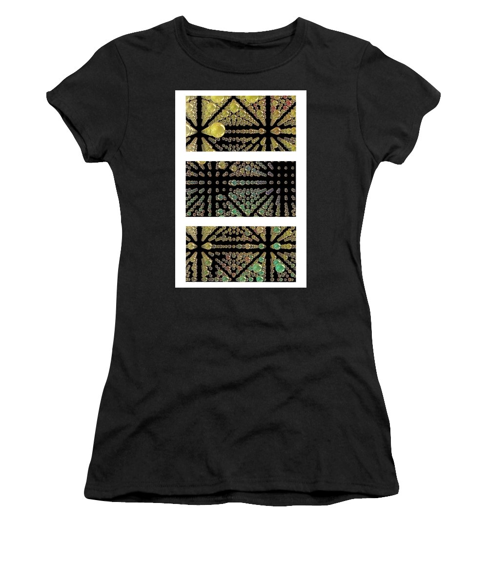 Abstract Women's T-Shirt featuring the photograph 3d Spheres by Susan Leggett