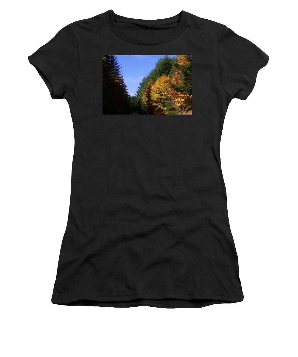 Bloom Women's T-Shirt (Athletic Fit) featuring the photograph Autumn 9 by J D Owen