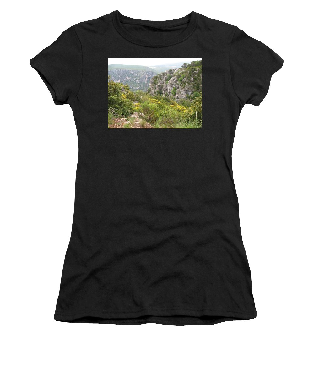 Canyon Women's T-Shirt (Athletic Fit) featuring the photograph Grand Canyon Du Verdon - France by Christiane Schulze Art And Photography