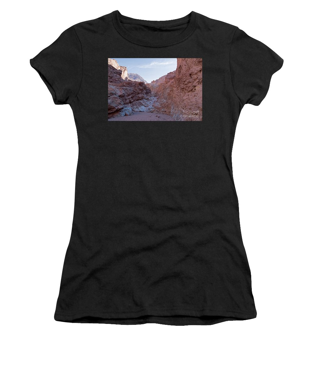 California Women's T-Shirt (Athletic Fit) featuring the photograph Natural Bridge Canyon Death Valley National Park by Fred Stearns