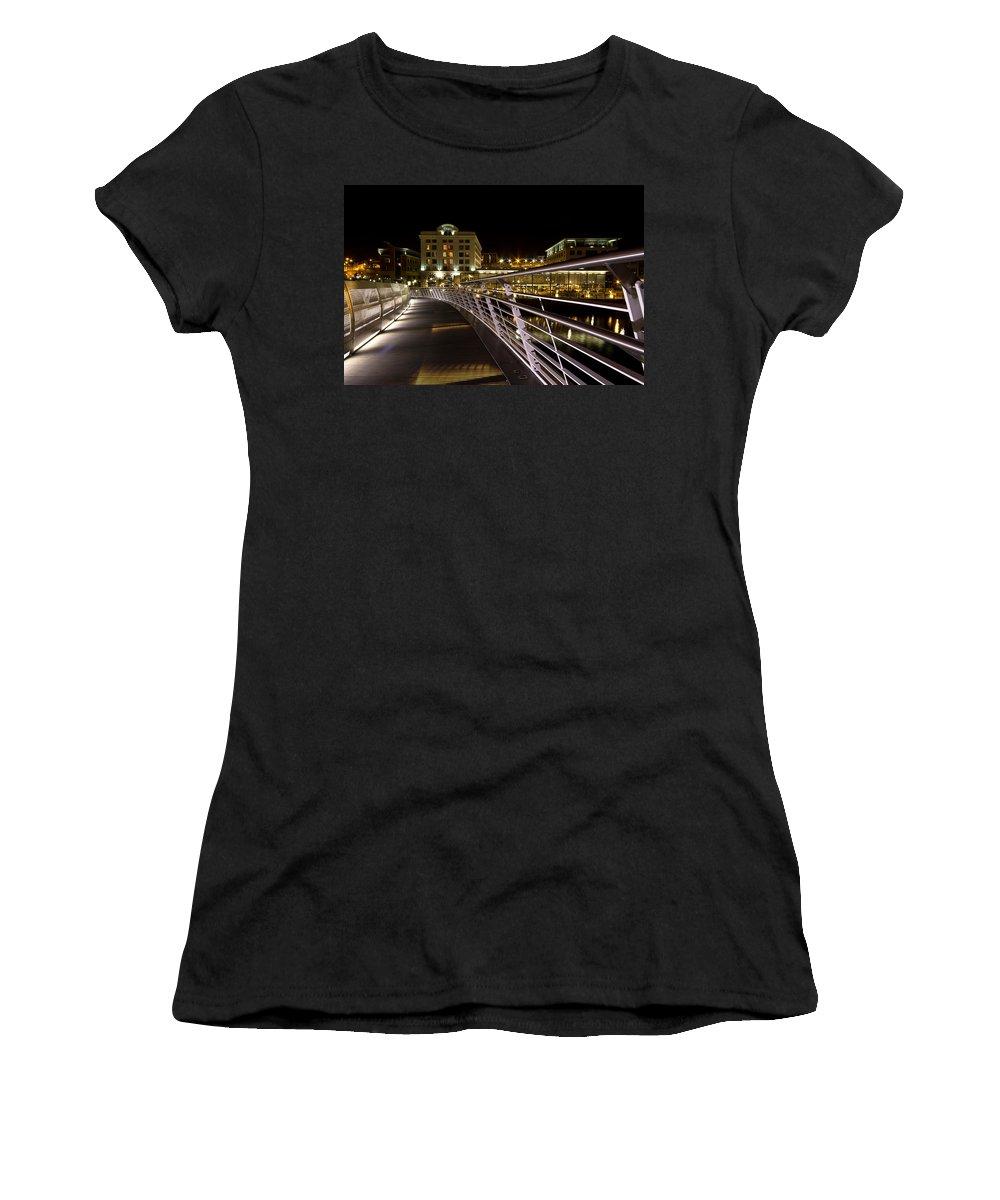 Malmaison Women's T-Shirt featuring the photograph Newcastle Quayside by David Pringle
