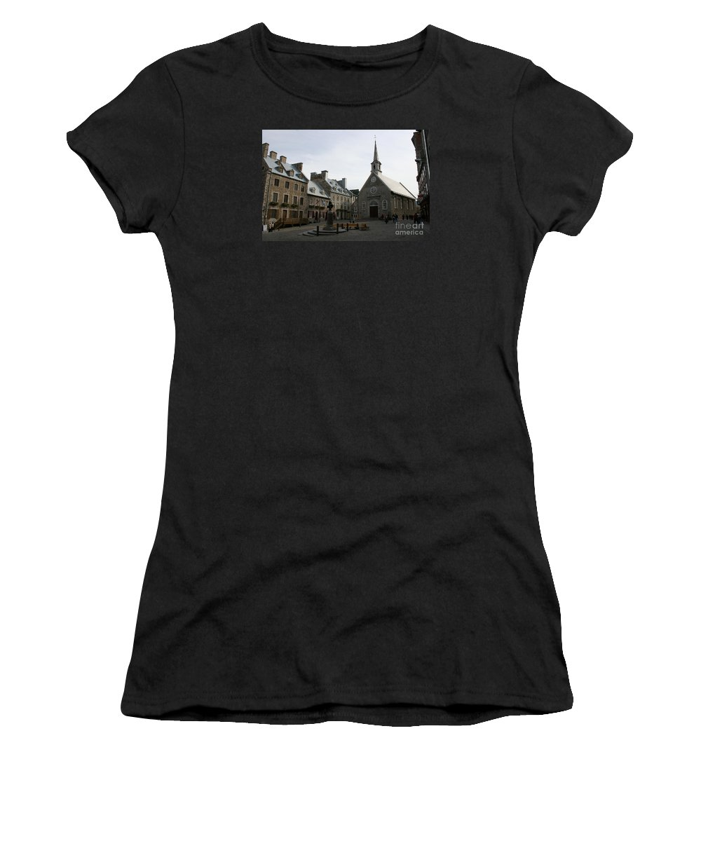 Old Town Women's T-Shirt featuring the photograph Old Town Quebec - Canada by Christiane Schulze Art And Photography