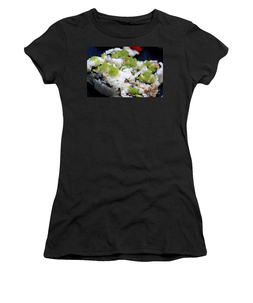 Food Women's T-Shirt featuring the photograph Sushi California Roll by Henrik Lehnerer