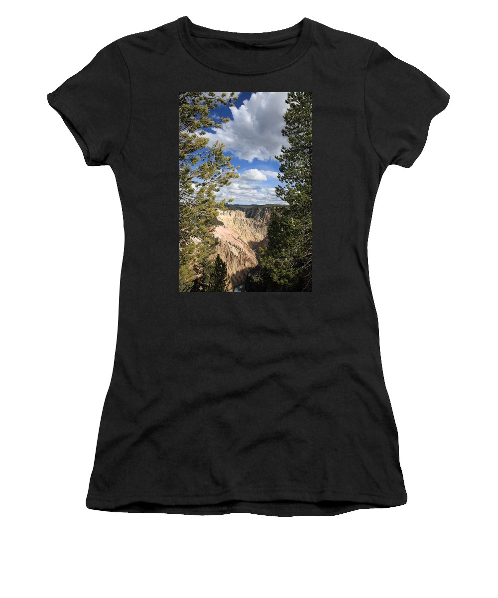 America Women's T-Shirt (Athletic Fit) featuring the photograph Grand Canyon Of Yellowstone by Frank Romeo