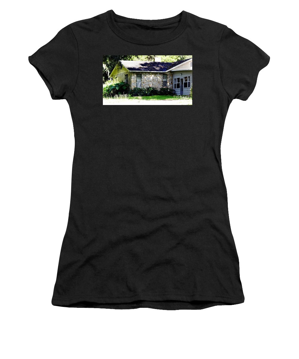 Chert Women's T-Shirt (Athletic Fit) featuring the photograph Home Made Of Limestone by D Hackett