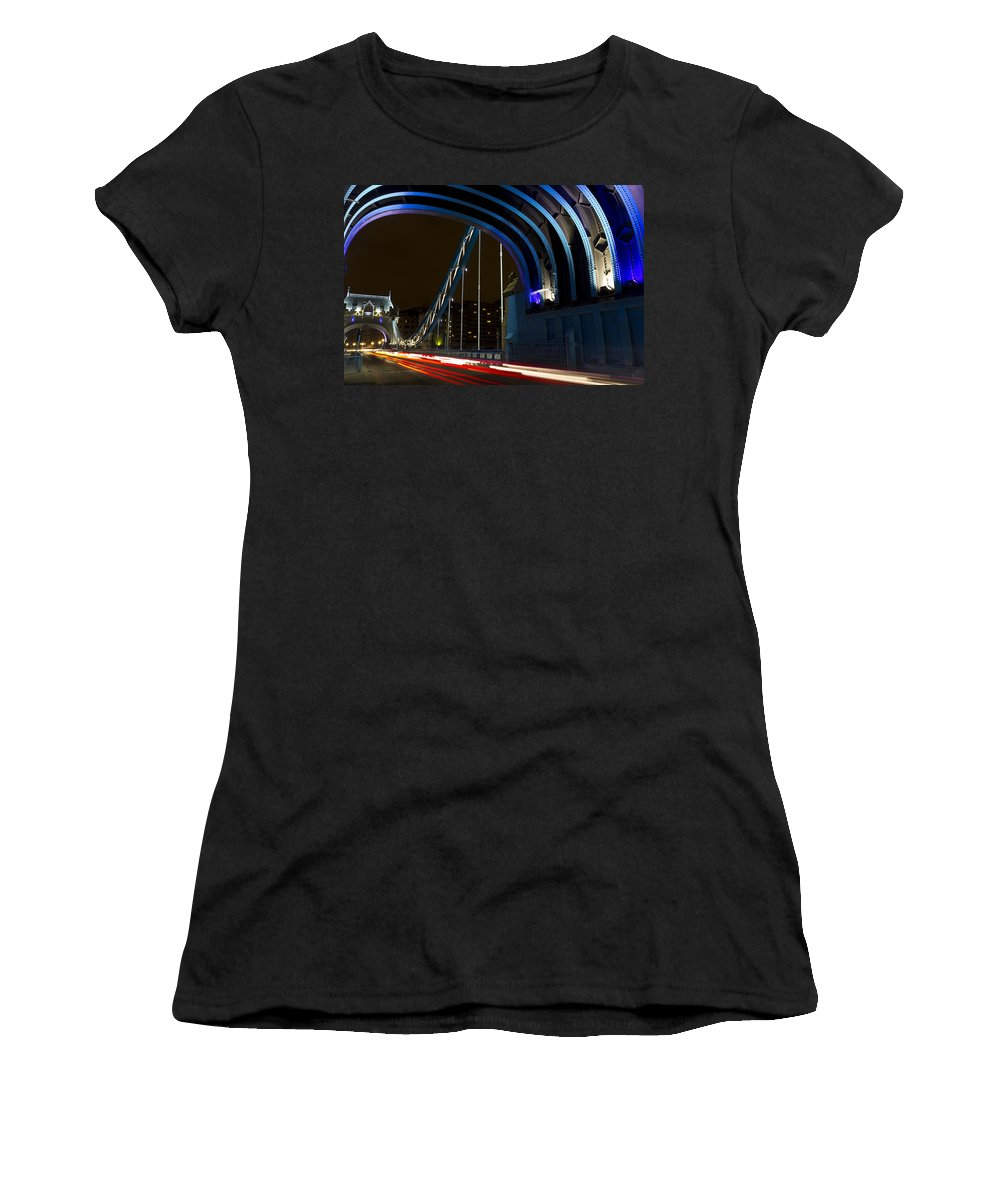 Tower Bridge Women's T-Shirt (Athletic Fit) featuring the photograph Tower Bridge London by David Pyatt