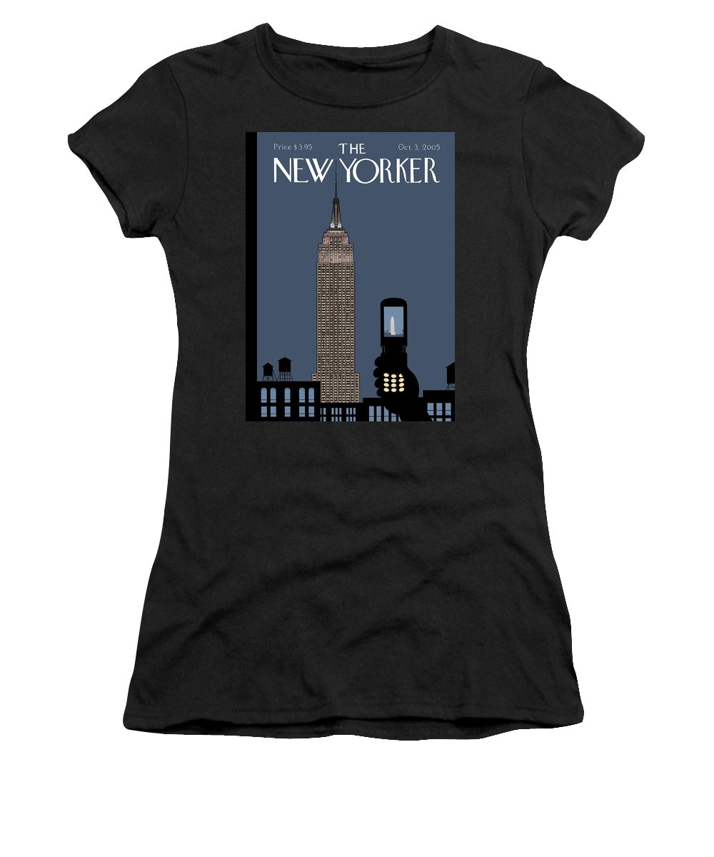 Hold Still Women's T-Shirt featuring the painting Hold Still by Chris Ware
