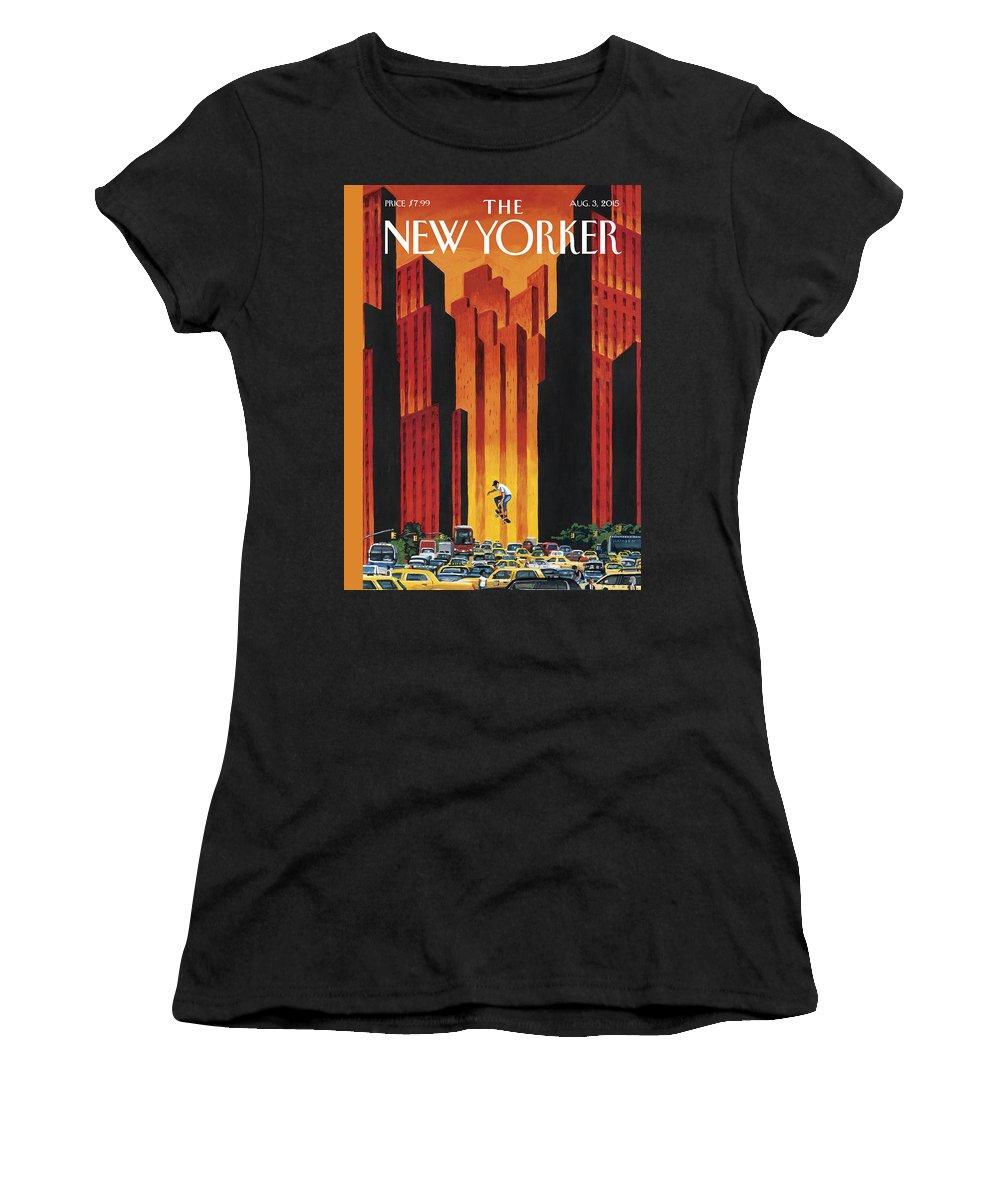 The Endless Summer Women's T-Shirt featuring the painting The Endless Summer by Mark Ulriksen