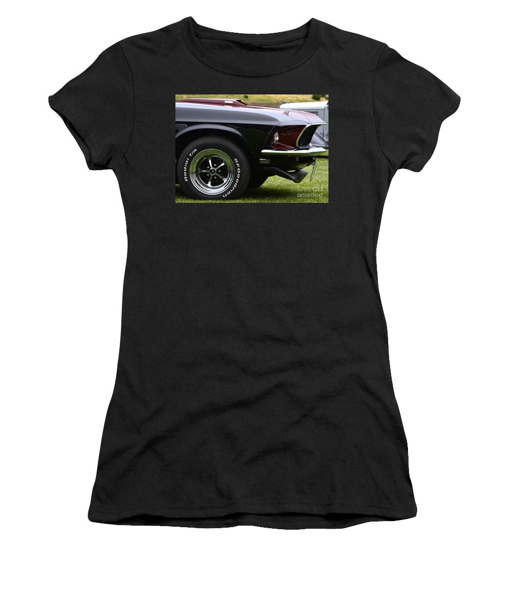 Mustang Women's T-Shirt featuring the photograph Mach-1 by Dean Ferreira