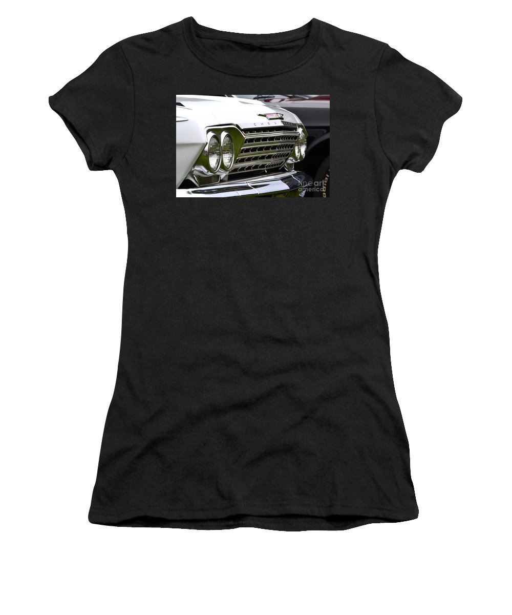Muscle Women's T-Shirt featuring the photograph Chevy Impala by Dean Ferreira
