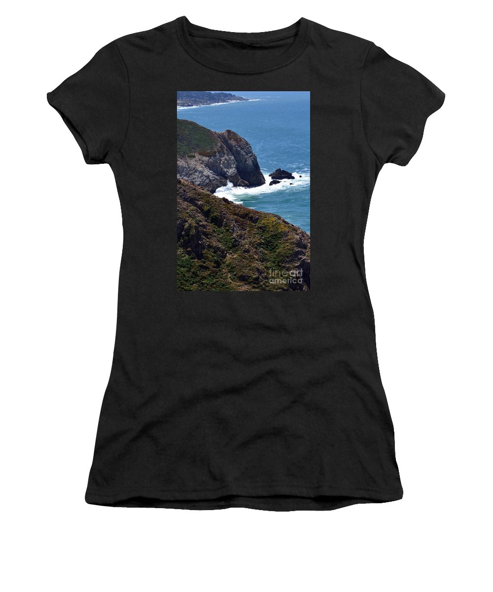 Women's T-Shirt featuring the photograph Devil's Slide Hike by Dean Ferreira