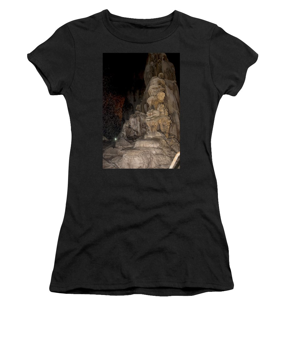 Caverns Women's T-Shirt (Athletic Fit) featuring the digital art Grutas De Cacahuamilpa by Carol Ailles
