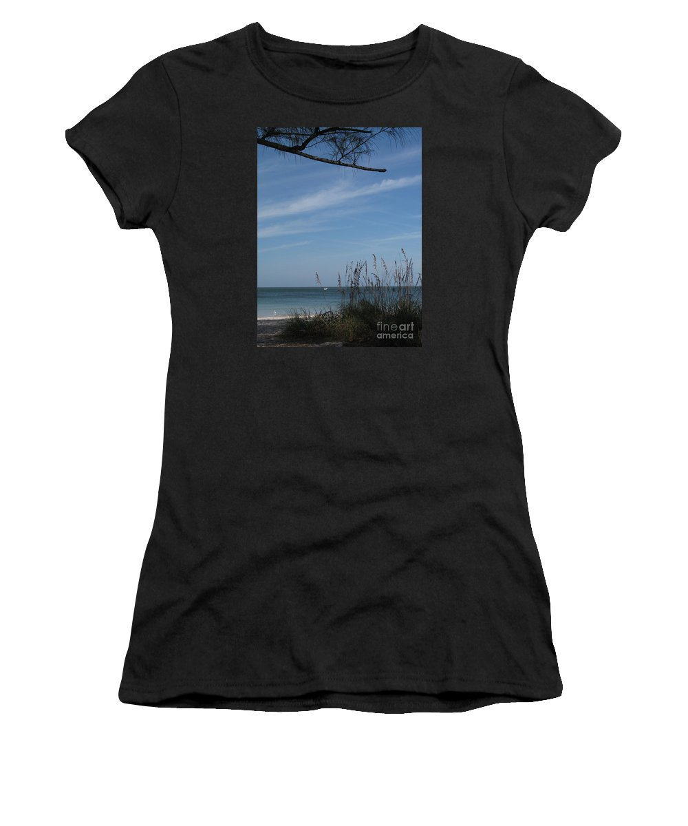 Beach Women's T-Shirt featuring the photograph A Beautiful Day At A Florida Beach by Christiane Schulze Art And Photography