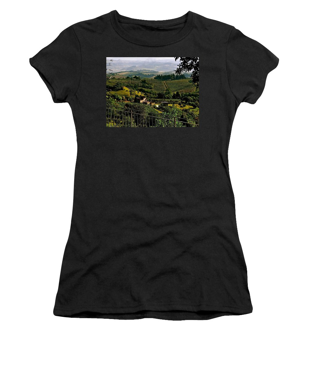 Tuscany Women's T-Shirt featuring the photograph A Day In Tuscany by Ira Shander