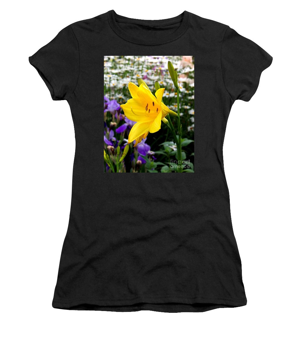 Lily Women's T-Shirt (Athletic Fit) featuring the photograph A Fly In The Ointment by Kathy McClure