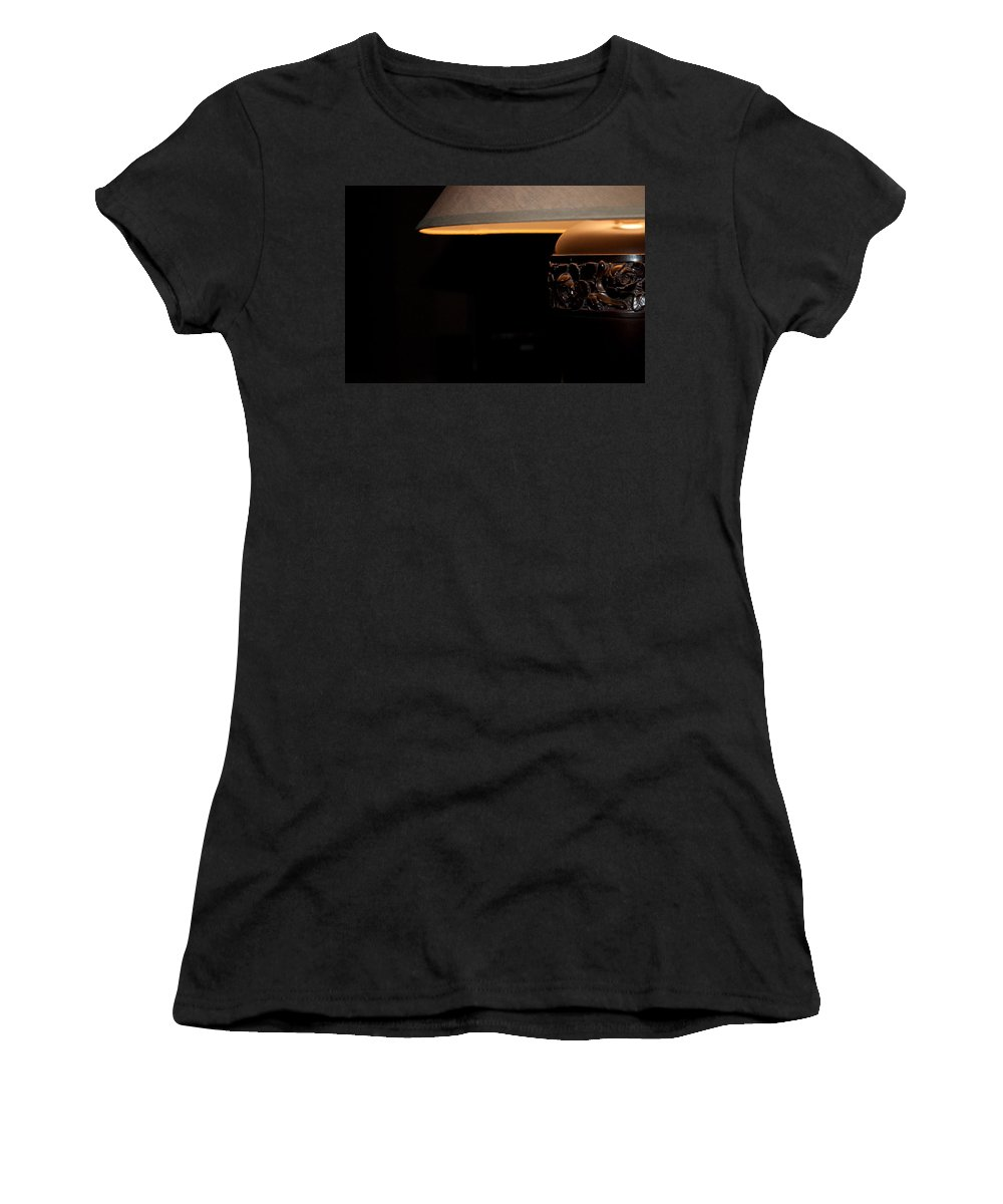 Fine Women's T-Shirt (Athletic Fit) featuring the photograph A Good Book A Glass Of Wine by Paulette B Wright