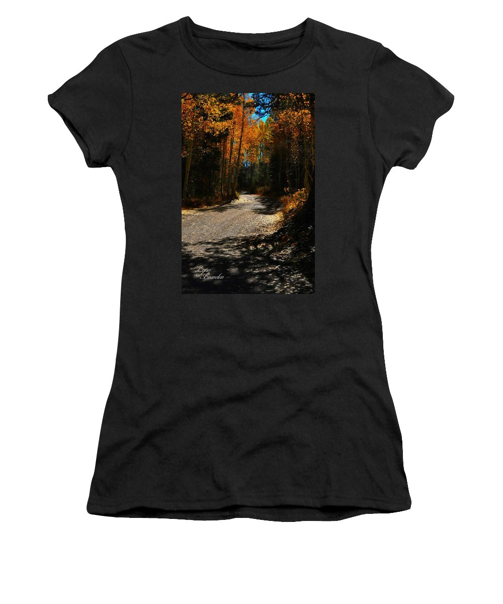 Roads Women's T-Shirt (Athletic Fit) featuring the photograph A Leisure Drive by Lynn Bawden