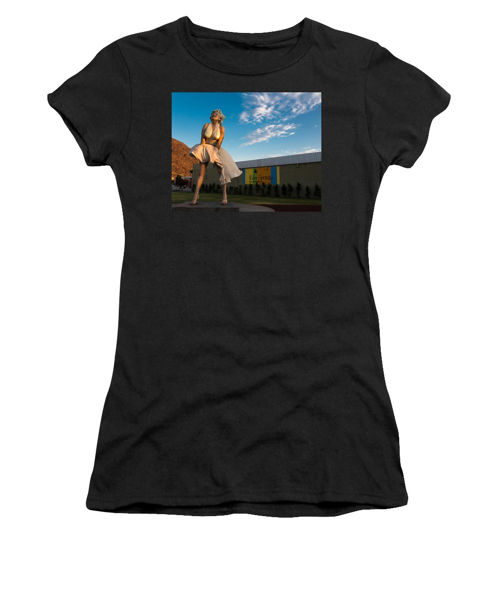 Marilyn Monroe Women's T-Shirt (Athletic Fit) featuring the photograph A Marilyn Morning by John Daly